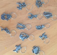 Zodiac Wine /Wineglass Charms Set Of 12 Solid Lead-Free Pewter Made In U.S. - $17.96