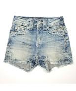 Miss Me Women's High Rise Vintage Short Shorts Denim Jeans Med Blue Size... - $77.25