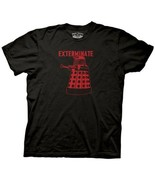 Doctor Who Red Dalek Exterminate T-Shirt Style #2 Size 2X NEW UNWORN - $19.34