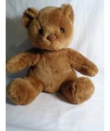 Build A Bear Coffee Brown Classic Teddy Bear Plush Sitting Says I Love Y... - $11.75