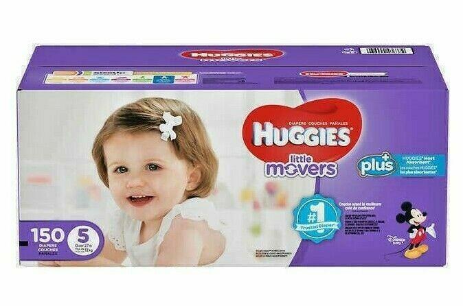 Huggies® Little Movers Plus Diapers Size: 5; 150  Baby Diaper Comfort Children