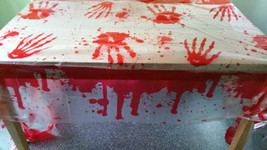 """Bloody - Blood Stained Table Cover  54"""" x 108"""" Halloween Party Decoratio... - $3.18"""