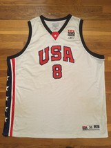 Authentic Reebok 2002 Team USA Olympic Antonio Davis Home White Jersey 56 - $309.99
