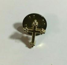 """Vintage Cross Tie Tack Hat Pin Back Brooch 1/2"""" Bg 22 - $5.69"""