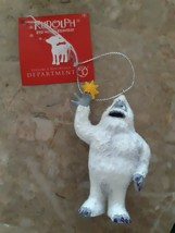 Dept 56 Rudolph The Red Nosed Reindeer Bumble Ornament Abominable Snowman - $16.20
