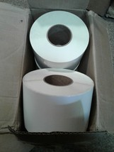"""5"""" X 8"""" - Thermal Transfer Paper Labels w/Perf 4 Rolls 750 ea - 3000 labels image 1"""