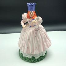 Wizard Of Oz Music Box Enesco Figurine Statue Porcelain Glinda Good Witch Wand - $163.35