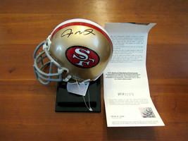 JOE MONTANA SAN FRANCISCO 49'ERS HOF SIGNED AUTO RIDDELL MINI HELMET UDA... - $247.49