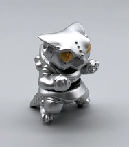 Max Toy Metallic Silver Mini Mecha Nekoron - Mint in Bag image 7