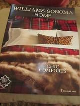 WILLIAMS-SONOMA HOME CATALOG HOLIDAY 2015 CHIC COMFORTS BRAND NEW - $9.99