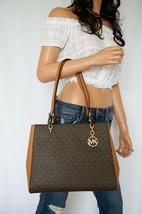 NWT MICHAEL KORS SOFIA LARGE PVC LEATHER SHOULDER TOTE BAG MK SIGNATURE ... - $98.00