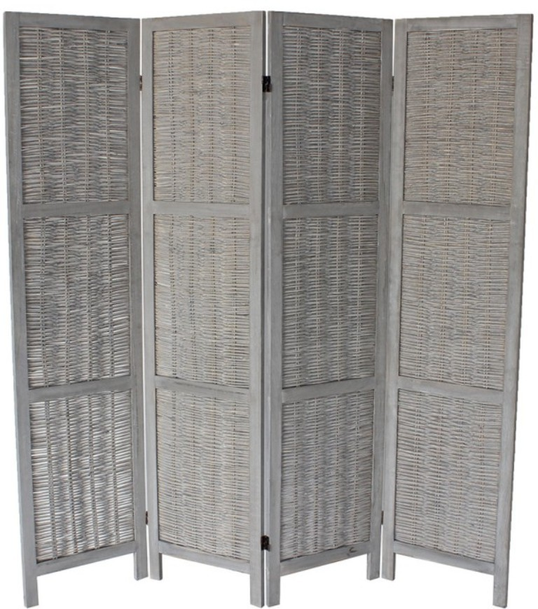 standing screens living room 4 panel room divider free standing screen folding portable 14408