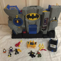 Fisher Price Imaginext Batman Bat Cave 2007 Robin Penguin Car Lot - $98.99