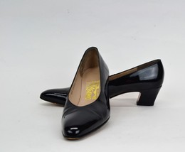 SALVATORE FERRAGAMO Women's Black Patent Leather Pumps Dress Shoes Size ... - $25.98 CAD