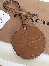 NWT COACH Leather BASEBALL BALL ORNAMENT bag Charm - $27.99