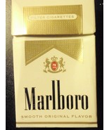 CIGARETTE BOX EMPTY PACK USA MARLBORO GOLD with DC tax stamp - $2.61