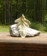 Real Leaf Pendant, Fern Leaf Preserved and Dipped in 24K Yellow Gold - $45.00