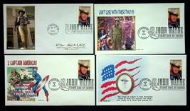 2004 John Wayne Lot Of 4 FCD Cachet Covers By Ace 141 - $7.55