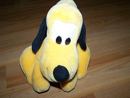 "Walt Disney World Pluto Plush Dog Toy Sitting Position 10"" Medium Size Animal - $20.00"
