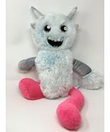 Build A Bear Plush Arctic Mixter Monster Ice Blue Stuffed Animal Pink Le... - $16.50