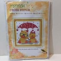 "The Ducks under the Umbrella Cross Stitch Kit 12"" x 12"" - $12.59"