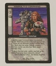 Battletech TCG CCG Misrouted Command 1996 Trading Card Game - $2.96