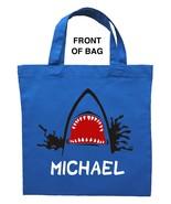 Shark Trick or Treat Bag - Personalized Shark Halloween Bag - $11.99+