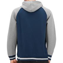 Men's Fleece Varsity Sweatshirt Letterman Sports Raglan Button Up Hoodie Jacket image 12