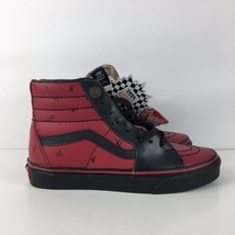2e1e1bcad206 Vans Marvel Deadpool Red Back Sk8-Hi High Top Size Women US 8.0 Men US