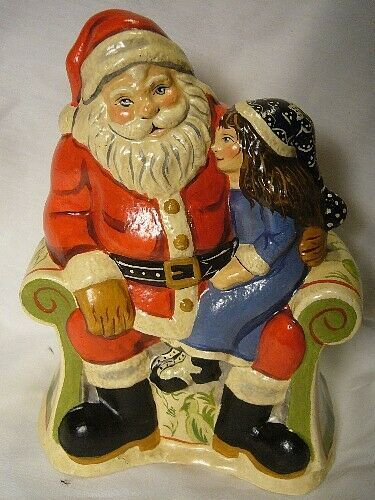 Vaillancourt Folk Art, My Christmas  Wish Santa signed by Judi Vaillancourt