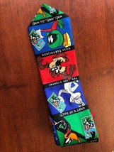 1997 Vintage Looney Tunes Stamp Collection Tie Warner Bros Bugs Martian Taz - $9.49
