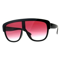 Oversized Fashion Sunglasses Arched Top Futuristic Shield Frame UV 400 - $9.85