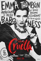 Cruella Poster Disney Film 2021 Emma Stone Emma Thompson Character Art Print #8 - £7.89 GBP+