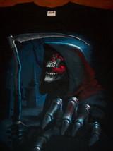Grim Reaper Skeleton Halloween Horror T-Shirt Xl New - $19.80