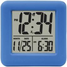 Equity by La Crosse 70905 Soft Cube LCD Alarm Clock (Blue) - $28.14