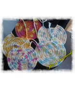 Handmade Crochet Baby Bibs/Variety of Colors/set of 5 - $20.00