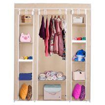 "69"" Portable Closet Storage Organizer Clothes Wardrobe Shoe Rack with Shelv - $40.94"