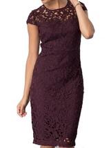 Jax Floral Lace Sheath Dress Plum Size 2 - $37.99