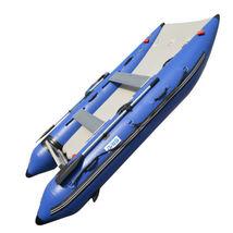 BRIS 11 ft Inflatable Catamaran Inflatable Boat Dinghy Mini Cat Boat Blue  image 11