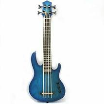 MiNi 4string ukulele ukelele electric bass uke with blue color - $173.24