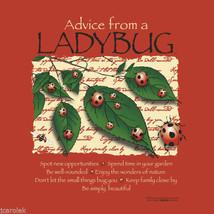 Ladybug T-shirt S 2XL Advice Organic Cotton NWT Short Sleeve Red New Gildan  - $20.20