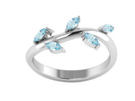 London Blue Topaz 925 Sterling Silver Ring Shine Jewelry Size-8.5 SHRI1275 - €12,08 EUR