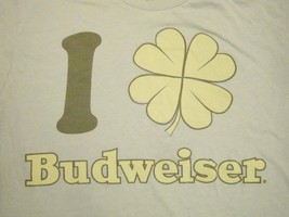 Budweiser Bud Light Beer Irish Liquor St. Patrick's Day T Shirt L - $11.28