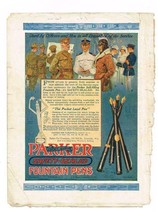 Oct.1918 Great Lakes Recruit Mag; Parker Fountain Pens for Servicemen & ... - $9.99