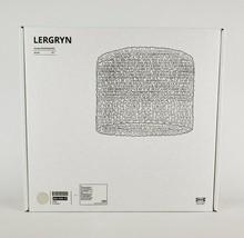 "Ikea Lergryn Lamp Shade Pendant/Floor Knitted Beige/Handmade 17"" New - $72.74"