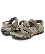 NEW! TIMBERLAND MEN'S  ELRIDGE LEATHER PEWTER SPORT SANDALS 5824A ALL SI... - $78.20