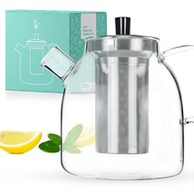 Tea Pot Set with Infuser by Kitchables - Loose Leaf Stove Top Glass Teap... - €34,99 EUR