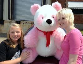 American Made Giant Stuffed Pink Panda Soft Jumbo Teddy Bear Made in USA... - $143.20