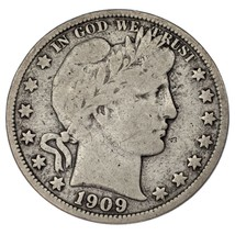 1909-O Barber 50C Demi Dollar Fin État, Naturel Couleur, Certains Tonifiant - $72.76