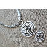 Silver bib necklace, bib necklace, tribal style bib necklace (990) - $29.00